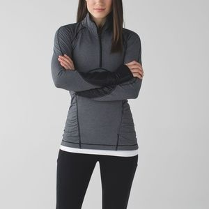 Lululemon Kriss Cross Half Zip in Tonka Stripe